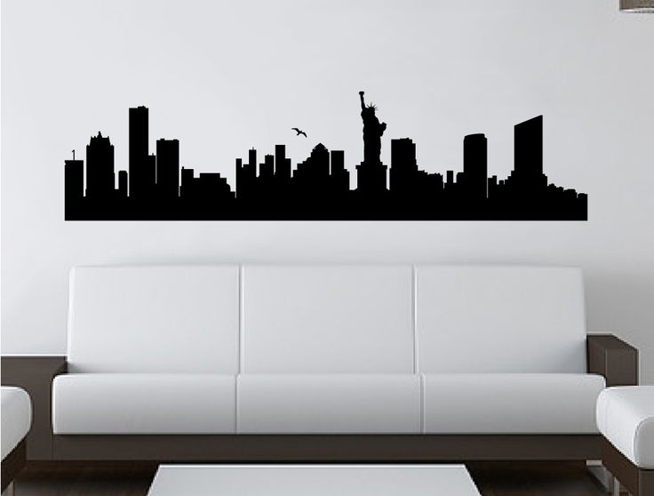 [ Wall Transfers Living Room Stickers Skyline New York City Silhouette  Sticker Home Mural Decor Decal ]   Best Free Home Design Idea U0026 Inspiration Part 95