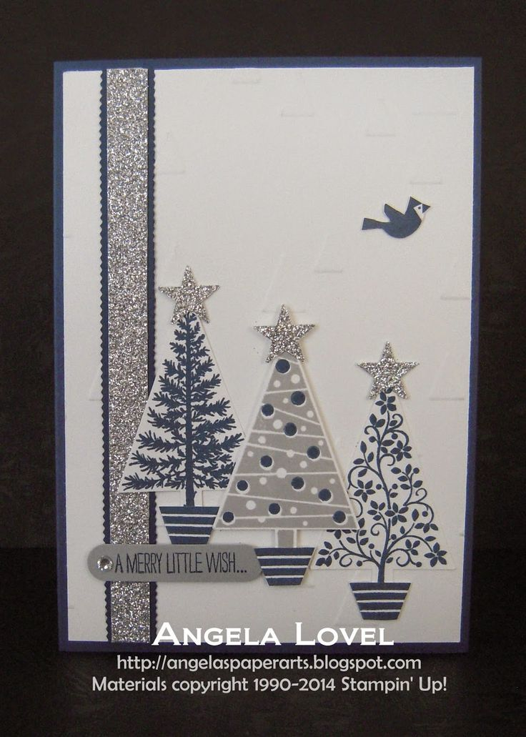 This card features the Stampin' Up! Festival of Trees stamp set and Tree punch which can be purchased as a bundle to save 15% off RRP from my online store: http://www3.stampinup.com/ECWeb/ProductDetails.aspx?productID=137640&dbwsdemoid=4011749 All other items used can also be purchased from my online store: http://www.angelaspaperarts.stampinup.net/ #angelaspaperarts
