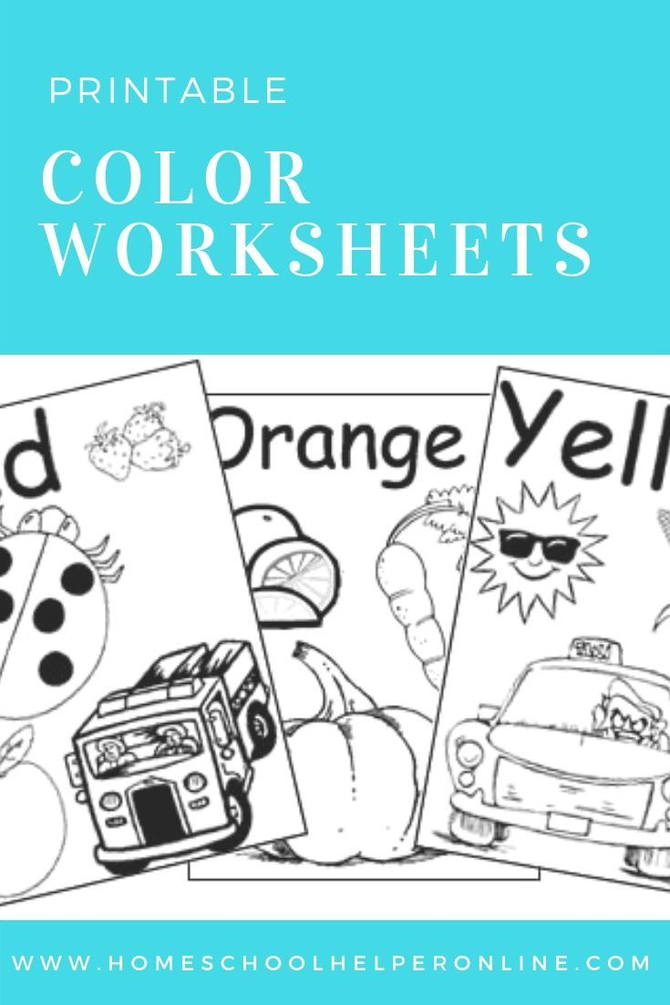 Free Printable Color Worksheets Includes The Color Name And Pictures To Be Colored Color Worksheets For Preschool Color Worksheets Free Preschool Printables [ 1102 x 735 Pixel ]