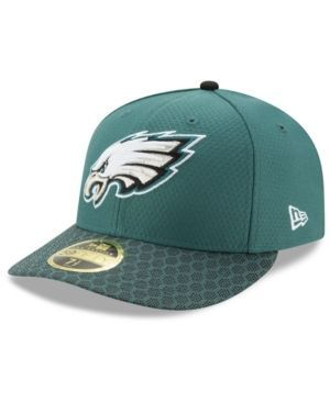New Era Philadelphia Eagles Sideline Low Profile 59FIFTY Fitted Cap - Green/Black 7 3/8