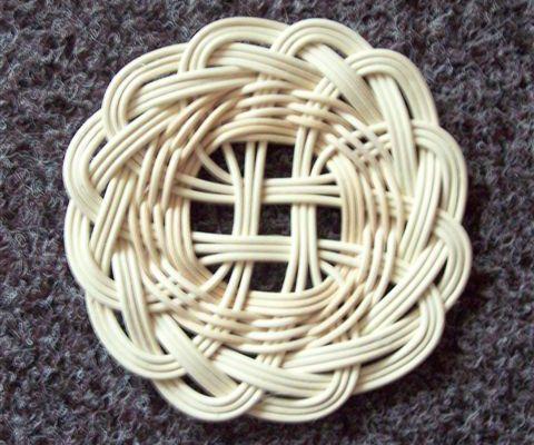 МК плетение подставки под горячее