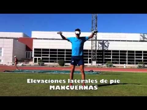 4.2.10 Personal Running - MANCUERNAS Elevaciones laterales de pie.