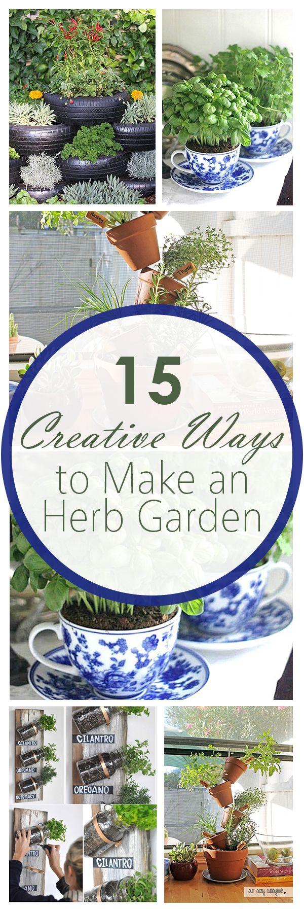 15 Creative Ways to Make an Herb Garden                                                                                                                                                                                 More