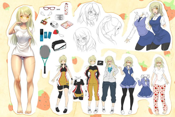 Anime Character Design Tropes : Commission character sheet by kotorikurama on deviantart