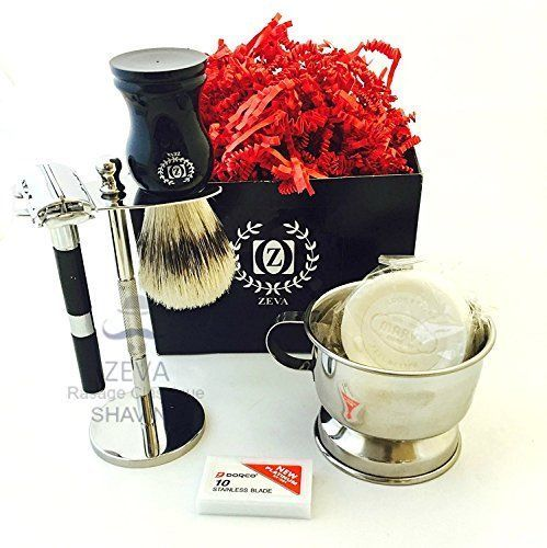 Mens Shave Kit Classic DE safety Razor Mens grooming Shaving set Classic