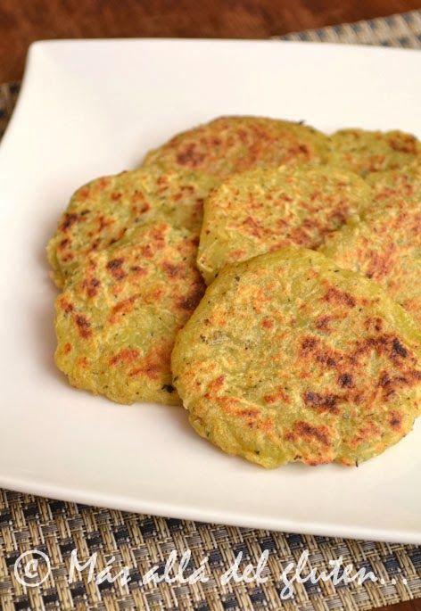 Más allá del gluten...: Tortillas de Batata y Zucchini (Receta GFCFSF, Vegana)