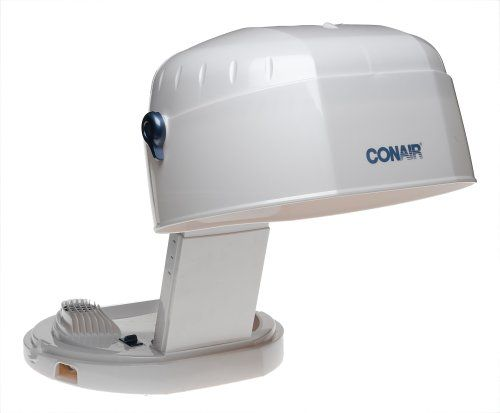$29.77-$34.99 Conair HH400 Collapsable Bonnet 1875-Watt Hair Dryer, White - Features adjustable height control, 2 heat/speed settings, extra large hood to accomodate a set of jumbo rollers, built in carry handle, folds to 6' in height, 6 foot line cord stores in base. http://www.amazon.com/dp/B000E8VI9U/?tag=icypnt-20