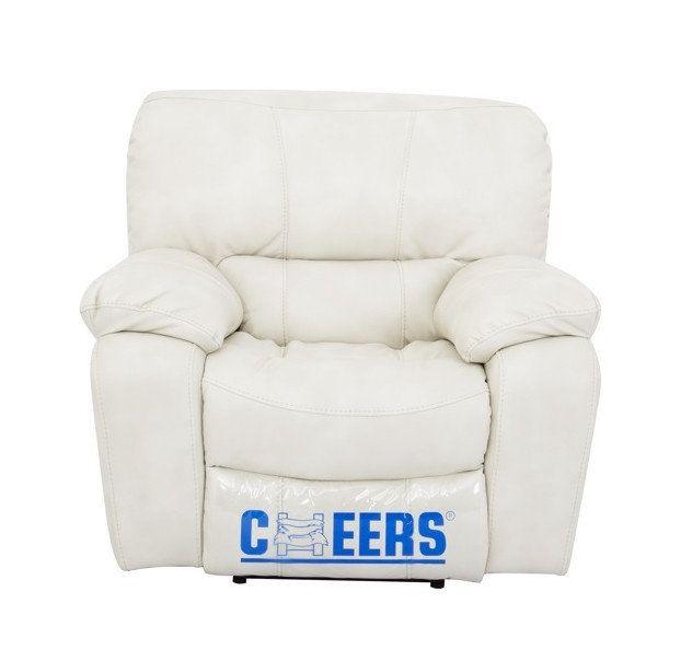 Комплект мягкой мебели Модель 8701 = диван + 2 реклайнера (2 цвета, кричневый, кремовый), фото 2