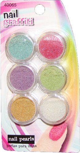 Nail Graffiti 6 Color Nail Pearls Nail Art Set *** Click image to read more details.