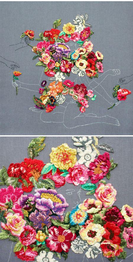ana teresa barboza - embroidery Auf thejealouscurator.com http://www.pinterest.com/landgirl42/textiles-fibers-2/