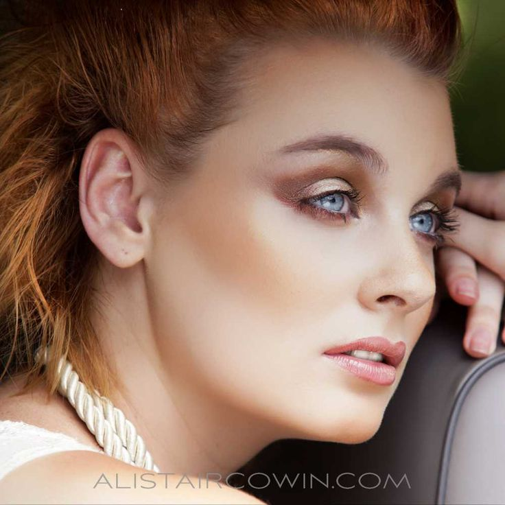 Location beauty shoot for model's Portfolio Make up & Hair: Rebecca Marks