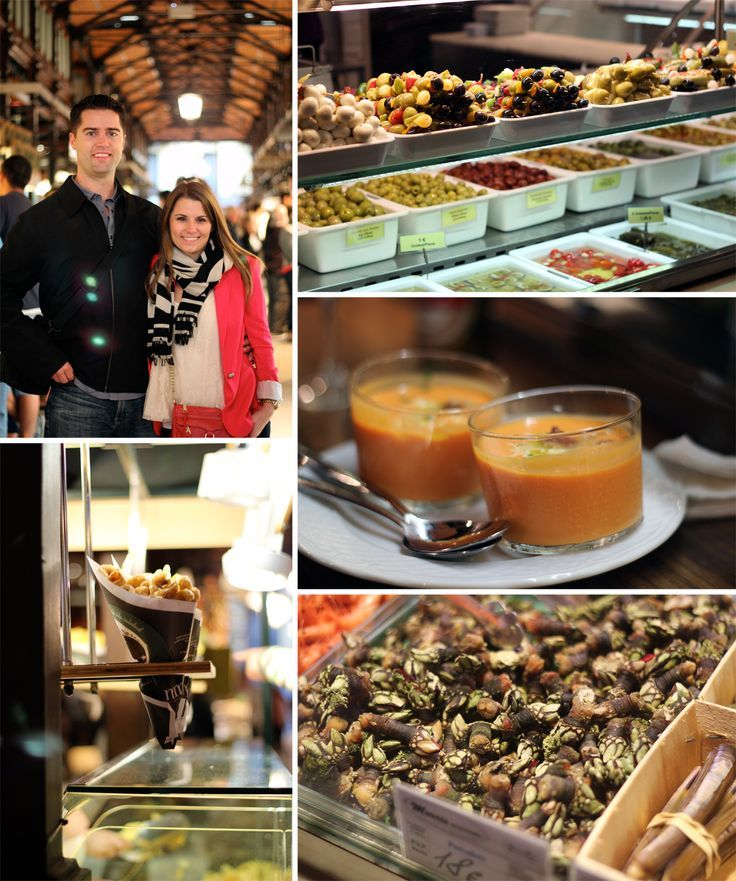 Our visit to the Mercado de San Miguel during our Madrid Food Tour http://www.reallyrisa.com/2012/10/09/bizarre-foods-spanish-honeymoon/?utm_content=bufferea4a8&utm_medium=social&utm_source=pinterest.com&utm_campaign=buffer#_a5y_p=629930