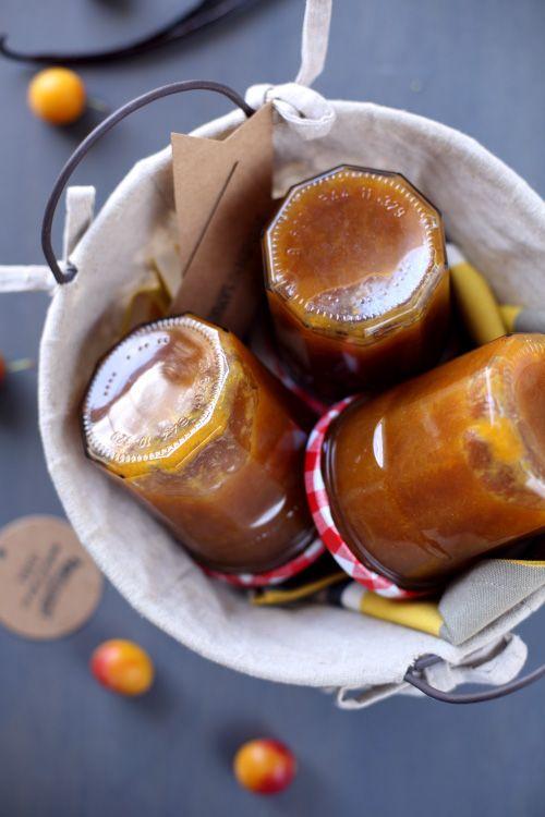 Confiture de mirabelles au sucre de canne et vanille