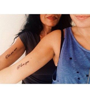 Mother daughter Tattoos 18