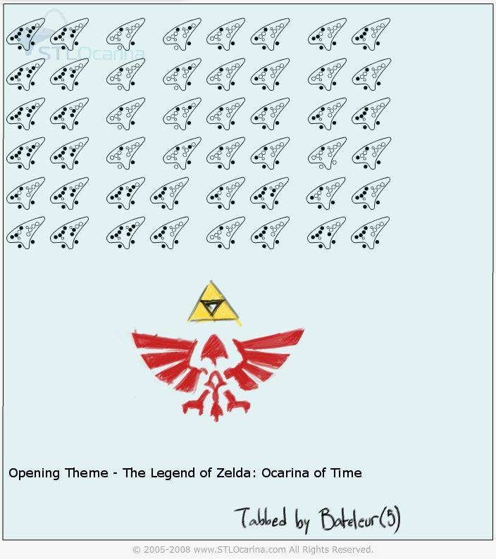 All Zelda Ocarina Songs | Opening Theme (Zelda: Ocarina of Time) | Ocarina Tabs