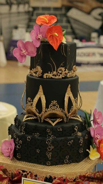 423 best Black Cakes images on Pinterest Amazing cakes