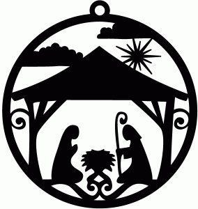 Silhouette Design Store - View Design #70877: nativity ornament tag
