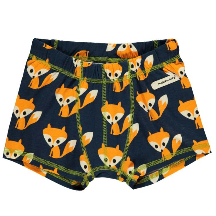 These are so cool! Children's boxer shorts by Maomorra with a bold fox print.