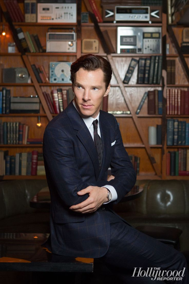 Benedict Cumberbatch ... Any picture where he is near books makes me so happy lol