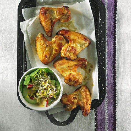 Chicken-Wings mit Gurkensalat - BRIGITTE