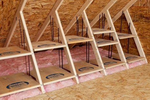 Rekjes maken op zolder in de 'verloren' ruimte