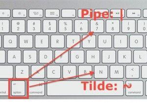 """Mac-Tipp: Mit der richtigen Tastenkombination die Zeichen Pipe ("""" """") und Tilde (""""~"""") erzeugen."""
