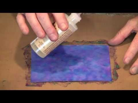 Video tutorial demonstrating many techniques for using alcohol inks on different surfaces.