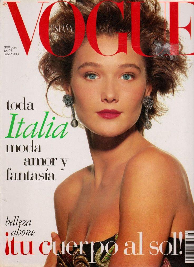 Carla Bruni - Vogue Spain July 1988 | Mmodels241 in 2019 ...