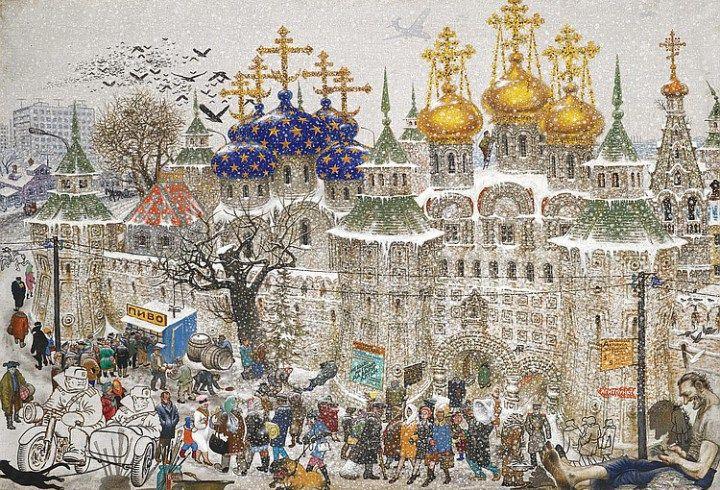 Russian – American Romance | Josie Holford: Rattlebag and Rhubarb  Vasily Sitnikov, Russian Monastery, 1971