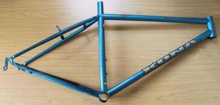 Retro Kona Cinder Cone Mountain Bike Frame. Sound condition with marks and scuffs from use and age and corrosion as pictured. Chips to paint have been touched up with similar paint at some point. Lovely Steel Hardtail from 1995 (my favourite year for Konas). | eBay!