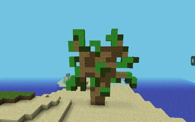 Minecraft PE Simple Pixel Art of a Sapling...actually not that simple.