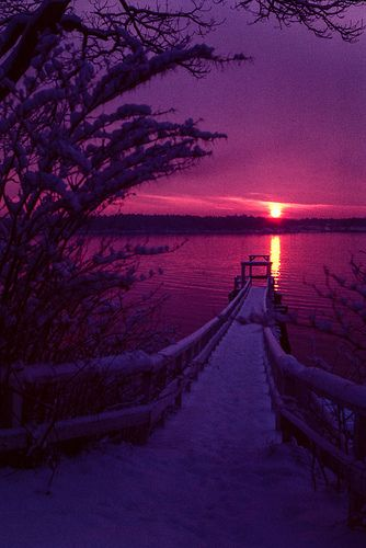 Yarmouth, Maine Winter Sunrise by Mike Schaffner--Gorgeous! http://www.visitmaine.net/tag/1/lodging-by-region/20/portland-casco-bay