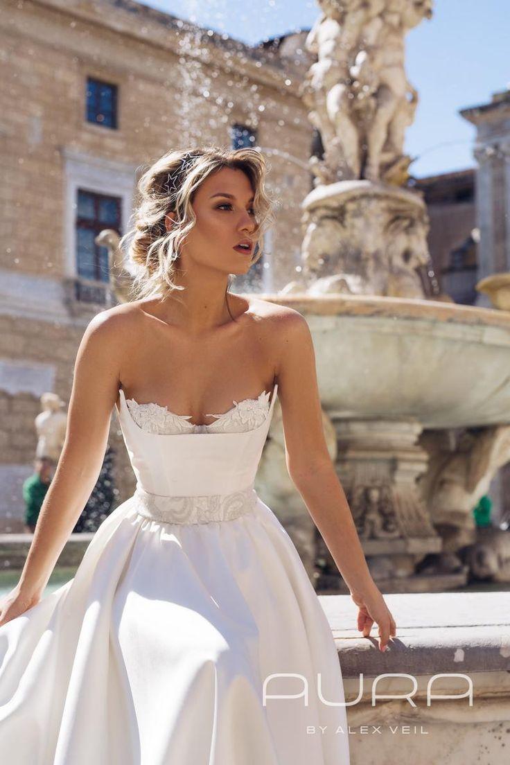 wedding dress bella wedding gown with mikado satin skirt and