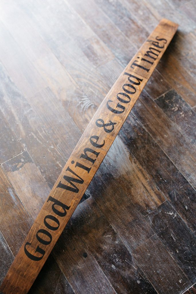 Wine Barrel Stave Signs