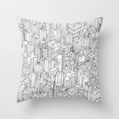 Isometric Urbanism pt.1 Throw Pillow