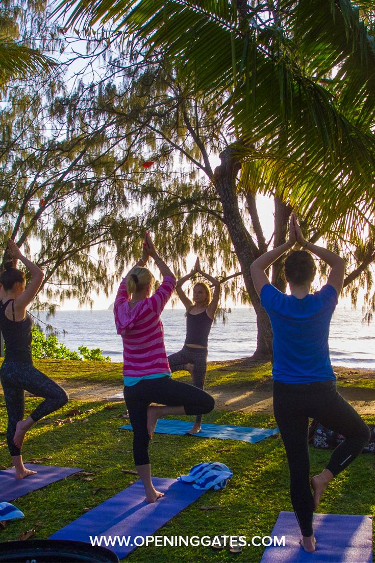 Yoga is a lovely way to start the morning at our LIFE by DESIGN Retreats.