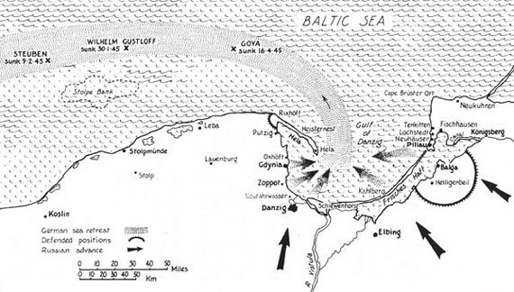 The flight from the Eastern regions and the loss of the Gustloff