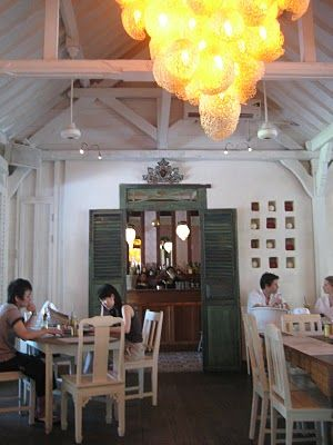 Cafe Bali, Seminyak. We had lunch and dinner here, love the decor!