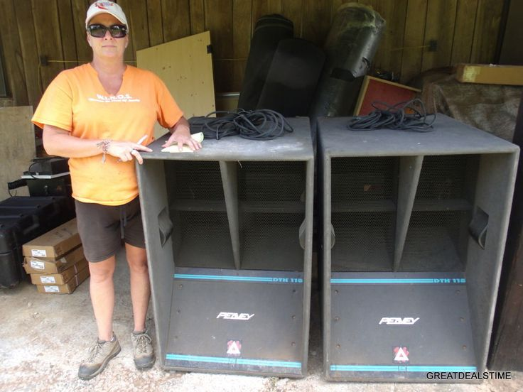 Peavey DTH 118 HUGE CONCERT SPEAKERS SET OF 2 RARE #PEAVEY