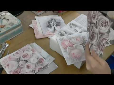 Коллажный декупаж и эмбосинг неповторимой шкатулки Видео мастер класс Натальи Жуковой - YouTube