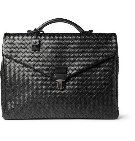 Bottega VenetaIntrecciato Leather Briefcase