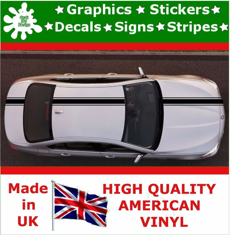 "4"" Racing Stripes Stickers Decal Art Car Auto Rally Graphics Sport HI_2_4"