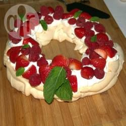 Christmas Wreath Pavlova with Berries