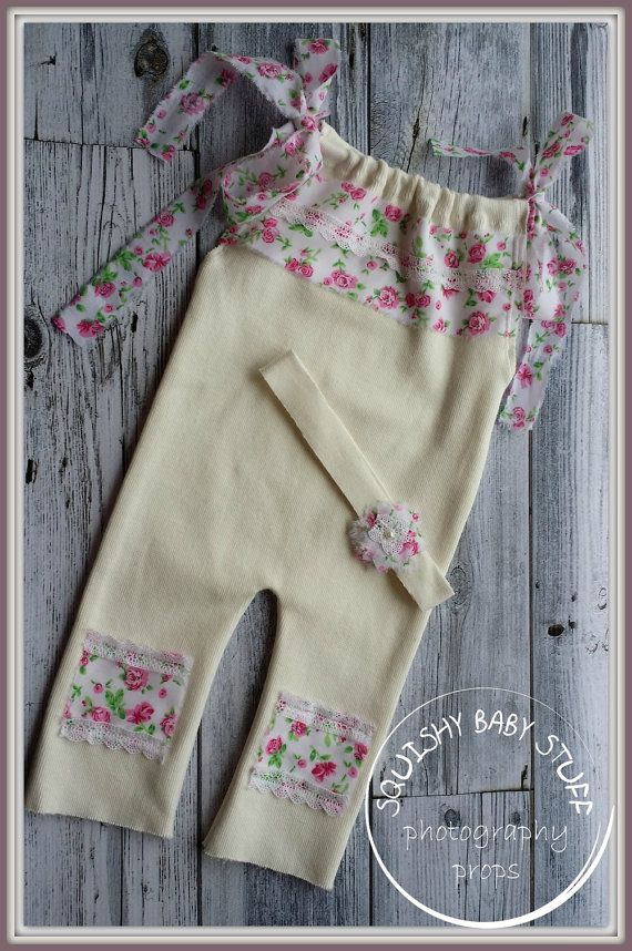 Newborn Stretchy Overall with Matching by SquishyBabyStuff on Etsy