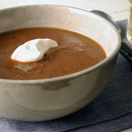 Black Bean Soup: use 0% greek yoghurt instead of sour cream to make this even healthier