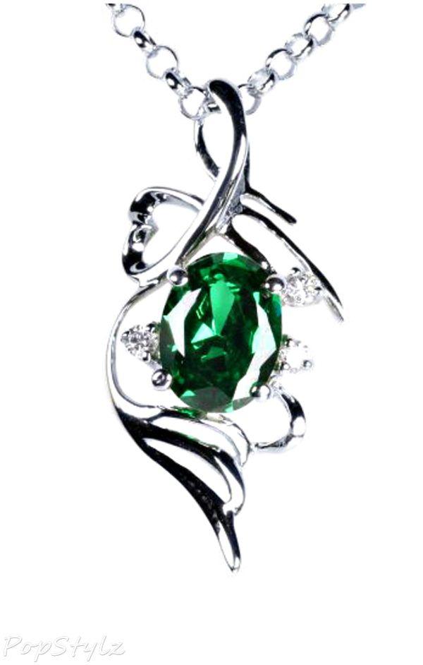 Genuine Oval Emerald Necklace