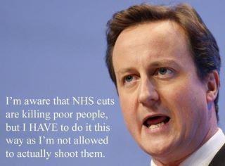 David Cameron, NHS cuts