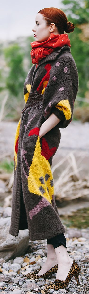 Multi Printed Knit Maxi Cardi by Sea Of Shoes