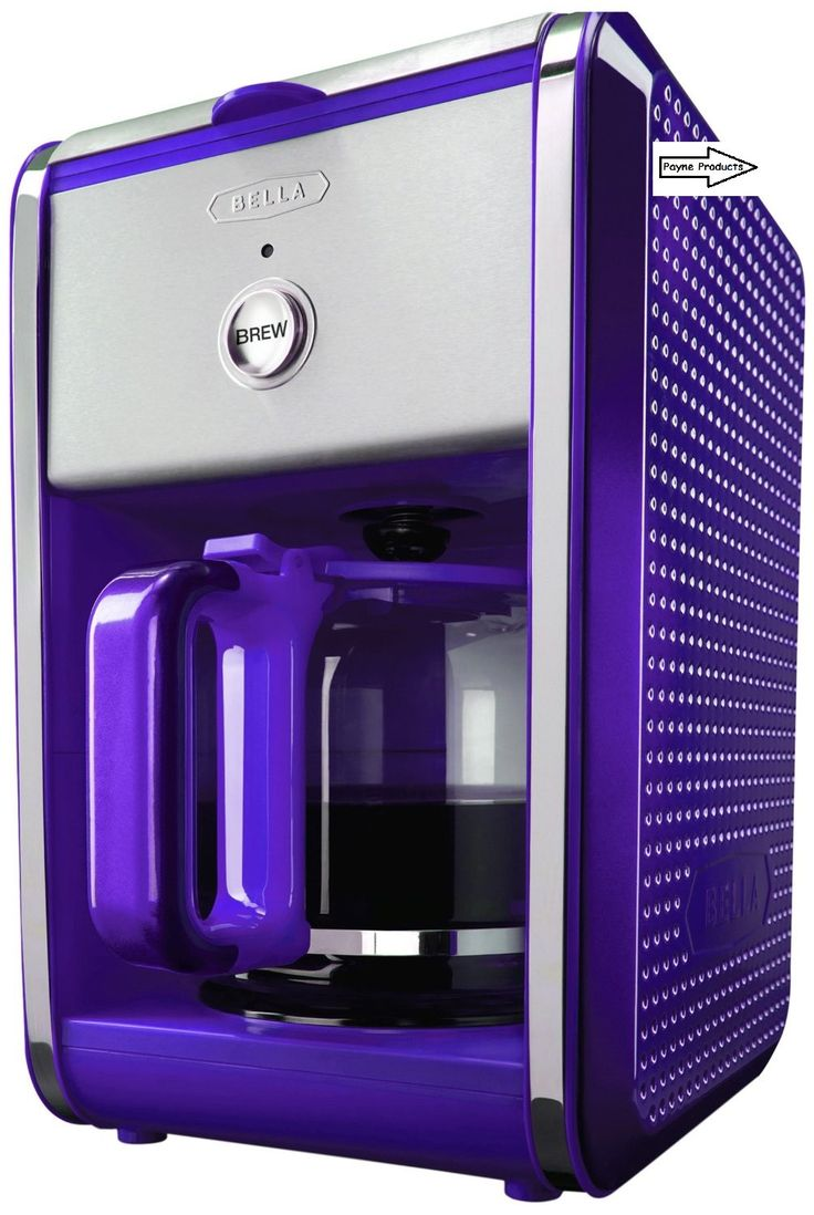 Bella Dots Collection 12Cup Coffee Maker Purple Colored