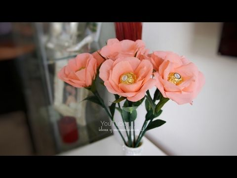 Como hacer flores de papel para regalar SUPER FACIL ♥ Alcatraces ♥ - YouTube
